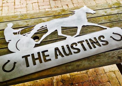 Harness Horse Racing With Custom Text