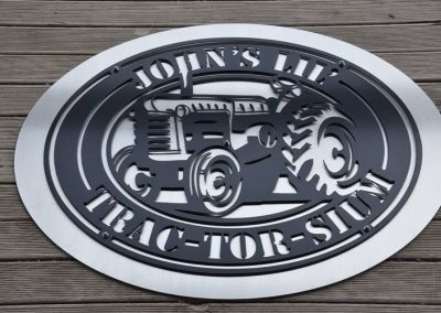 Tractor Shield With Custom Text