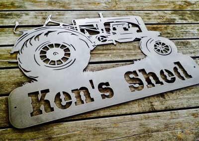 Tractor Sign With Custom Text